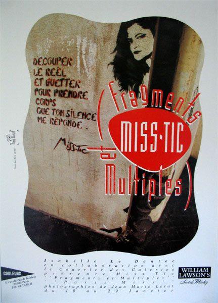 MISS TIC - Affiche Fragments et Multiples Miss Tic