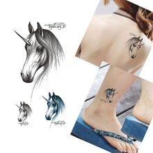 5 SZTUK Sexy Horse Wzory Wodoodporna Tymczasowa Naklejka Tatuaż Kobiety Mężczyźni Akcesoria Fałszywe Tatuaże Body Art Wklej Porady Makeup Tools