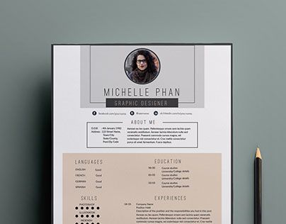 check out new work on my behance portfolio professional modern resume package