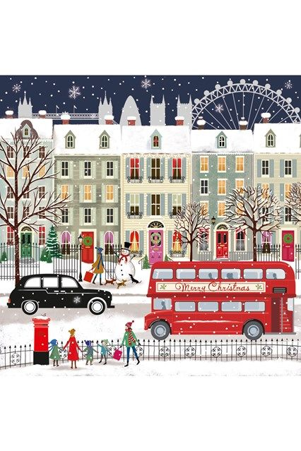 London Bus - Our pick of the sweetest festive greeting cards which help a good cause - from super traditional to kitsch, there's a card for you whatever your style