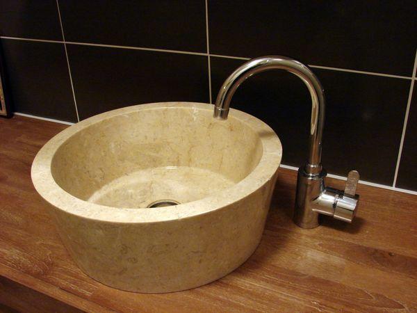 Sink Loyang Polish Color : Cream Size: Ø 40 cm X H. 15 cm Ø 45 cm X H. 15 cm