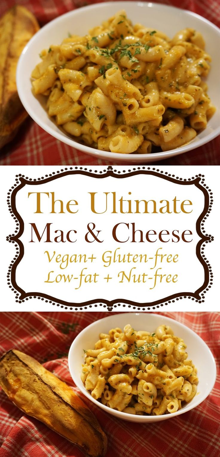 Life With Krystal: Best Vegan Mac & Cheese sauce (low-fat, nut-free, gluten-free) with cheese sauce made out of veggies including sweet potato! Your favorite comfort food is now clean, nut free, low fat and oil free. No tricks - just pure vegan macaroni and cheese-like deliciousness!