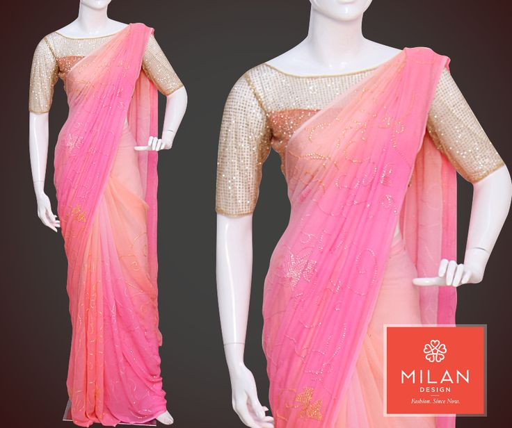 In order to be irreplaceable,one must always be different!! Milan Design presents #ShadedChiffon material saree with #MachineEmbroidery work and #3Dfabricmaterial blouse. http://www.milandesign.in/ #milanfashionsarees #milansilksarees #milanfabricsarees #Milandesignersarees #Milansarees #Milandesignsarees