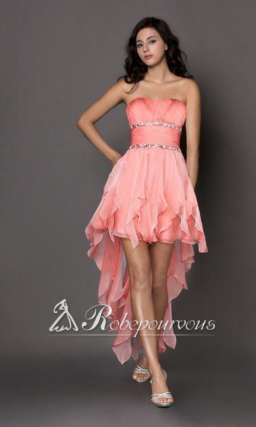 Robe de soiree bustier rose