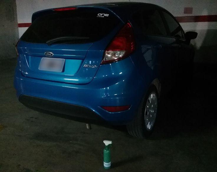 Este #Ford Fiesta brilla en el estacionamiento de un Cliente, Magic Clean Car te da la LIBERTAD de limpiar Tu Auto cuando y donde quieras...