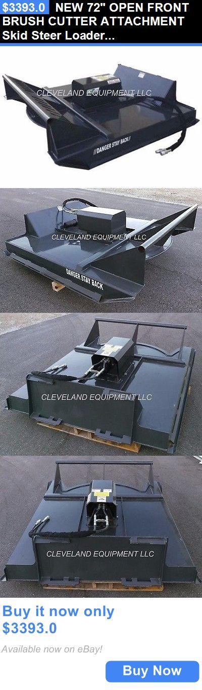 heavy equipment: New 72 Open Front Brush Cutter Attachment Skid Steer Loader Mower Bobcat Kubota BUY IT NOW ONLY: $3393.0