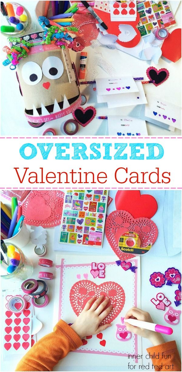 valentine's day cards for kids to make - these giant cards look so fun!