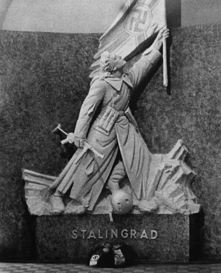 A monument to the German soldiers in the Zeughaus in Berlin. It existed from 1943 to 1945.