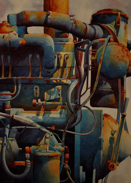 Pipes Watercolor by dana brown***Research for possible future project.