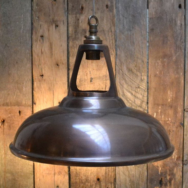 Vintage Style Bronze 'Coolicon' Factory Light. 250mm diameter. Supplied with BC lamp holder.