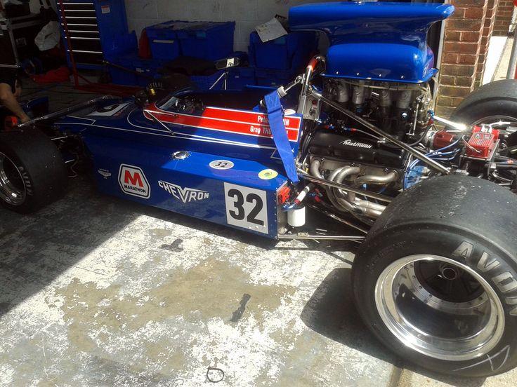Greg Thornton's Chevron Formula 5000 at Brands Hatch Historics 2014