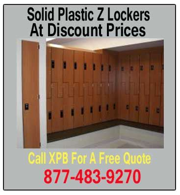 Solid Plastic lockers are perfect for an employee locker room