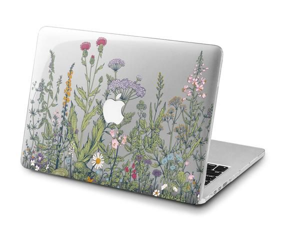 World Map Flora Art Hard Plastic Case Cover Macbook Pro Retina Air 11 12 13 15