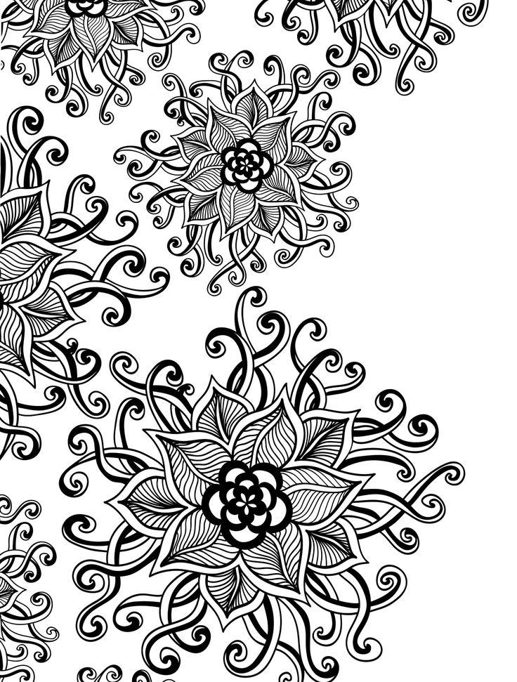 trippy flower coloring pages wwwpixsharkcom images
