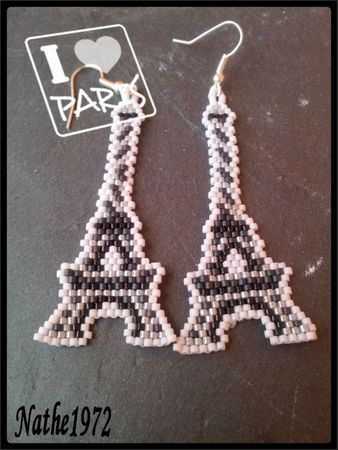 tour Eiffel perles, B.O tour Eiffel, tour Eiffel bijoux, B.O France, bijoux perles