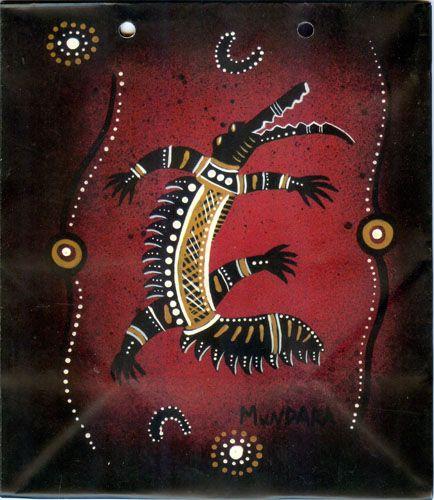 Aboriginal design Giftbag Design:  Crocodile by Mundara 18cm x 21cm x 10cm $4.00 each