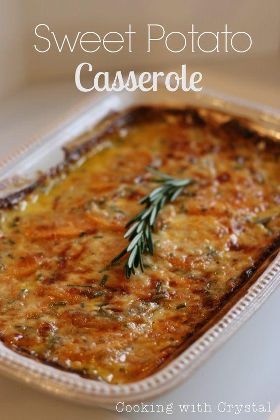 Savory Sweet Potato Casserole ...looks like a yummy side dish for Thanksgiving!