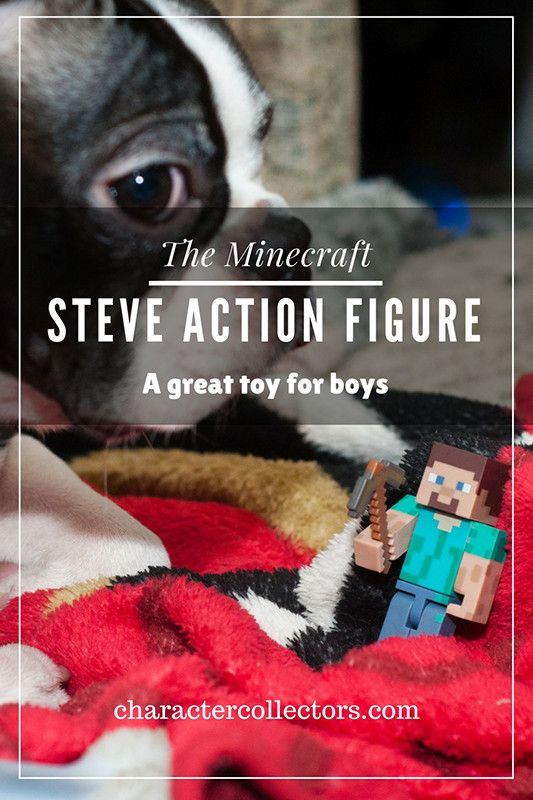 This is the most awesome of the Minecraft Steve figures. An amazing toy for kids to play with. And totally fun for boys to take outside since it's so durable. #Stevetoy #Actionfigure #Minecraft