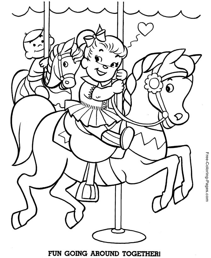 coloring book pages of horses 012