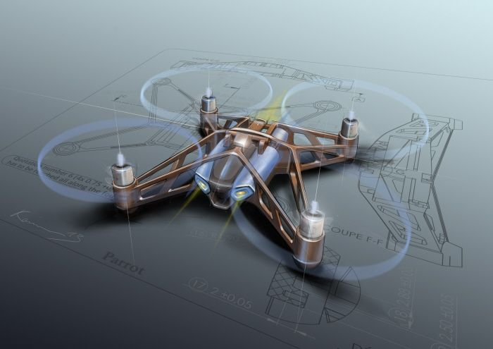 Parrot Rolling Spider mini drone by Karim Fargeau at ...