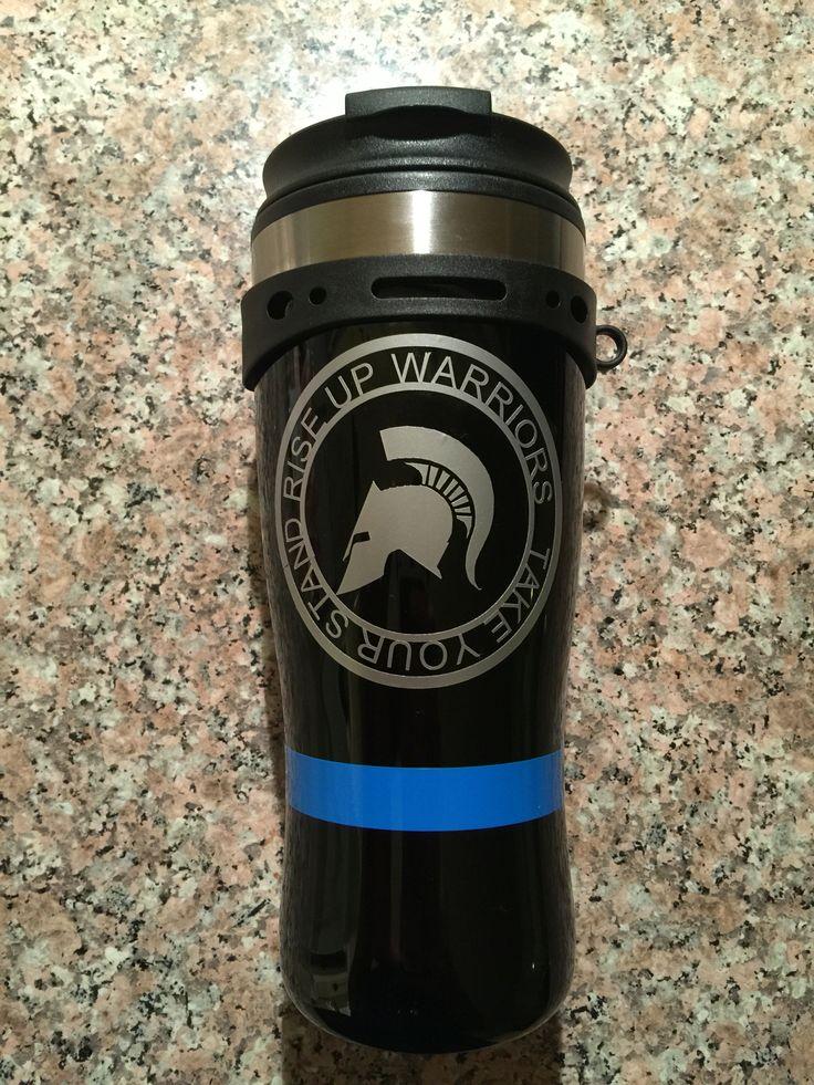 Thin blue line coffee mug.