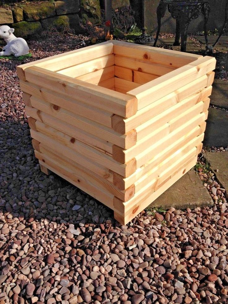 6 x  large wooden planter Definative bevelled edge,Top Quality. #RosetteGardenProducts