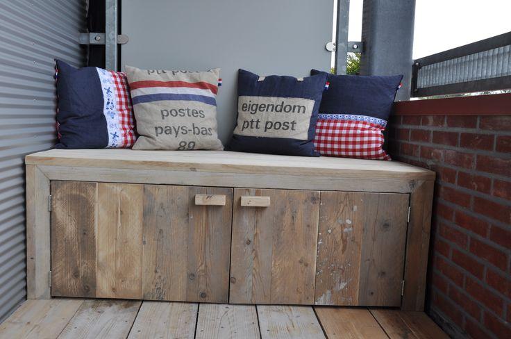 Balkon Goed idee die deurtjes voor steigerhouten tuinbankje