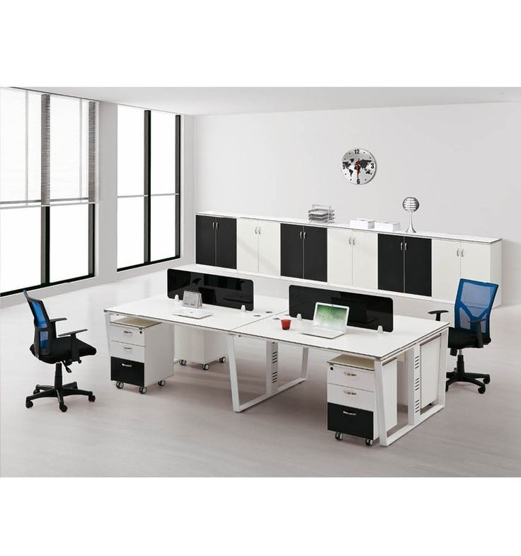 Big Discount Melamine 4 Person Modular Office Workstation