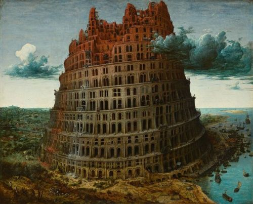 "camilotangerine:  ""Pieter Bruegel the Elder, The Little Tower of Babel, c. 1564, oil on panel, 60 x 75 cm., Museum Boijmans Van Beuningen, Rotterdam.  """