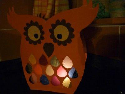 Kreatív ötletek gyerekeknek:  Bagolylámpás    www.hobbycenter.hu
