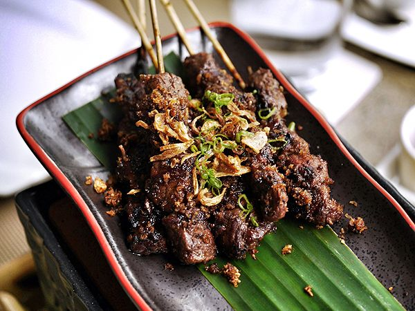 Angus beef sate from The Moluccas Room
