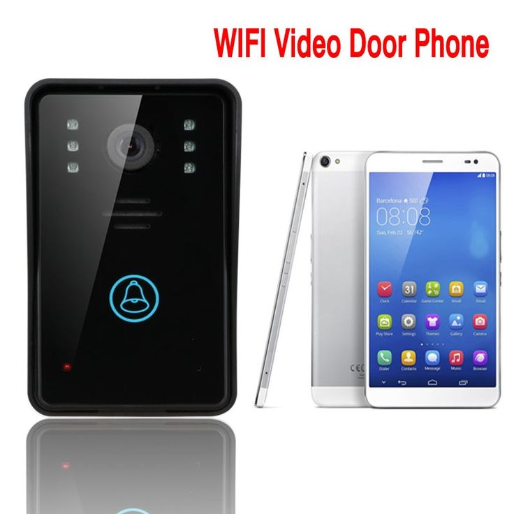 85.00$  Buy here - http://alizvo.worldwells.pw/go.php?t=32390660919 - Free Shipping! Smart WiFi video doorbell for smartphones & tablets, wireless video door phone, IP Wi-Fi camera