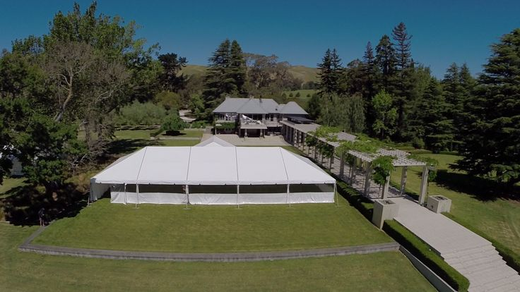10x25m Clipframe at Mana Lodge. #hawkesbayweddings
