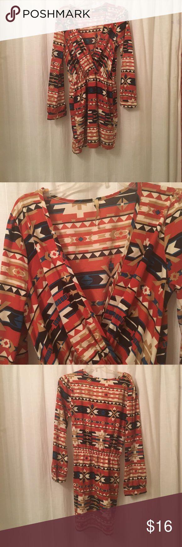 Aztec long sleeve dress Great condition. Very boho Primi Dresses Mini