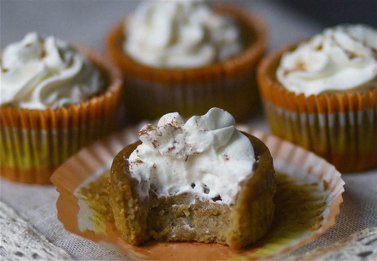 Crustless Pumpkin Pie Cupcakes.. Just made these this afternoon and ...