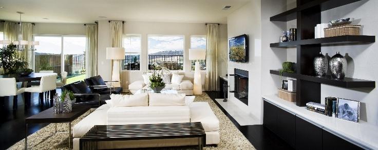 Design by Alexis Lane Austin, TexasDesign Inspiration, Contemporary Living Room, Room Inspiration, Black And White, Living Room Design, Design Gallery, Black White, White Living Room, Families Room