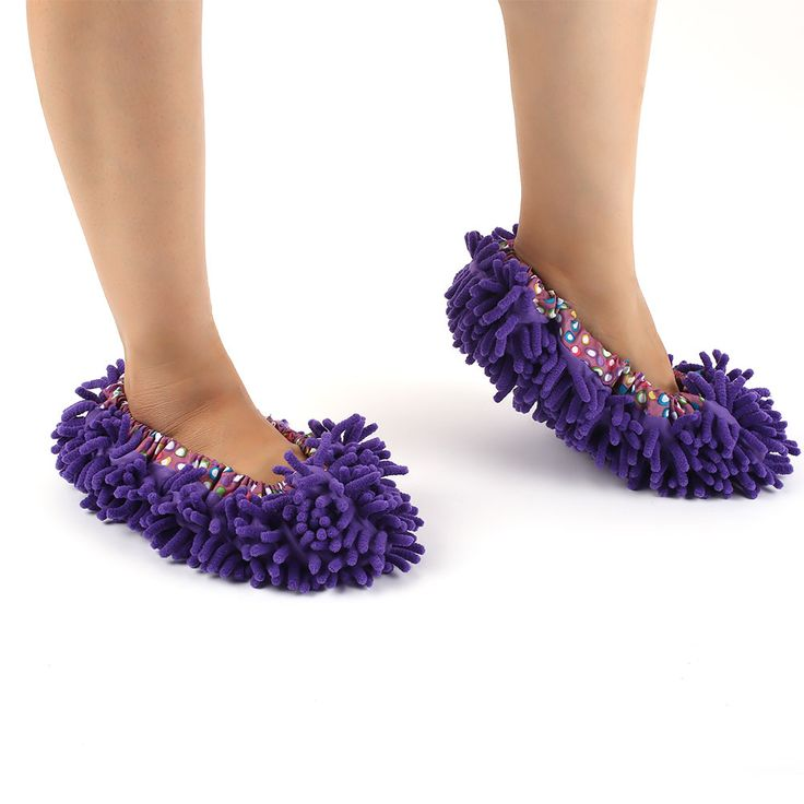 Home Mop Sweep Floor Cleaning Duster Housework Lazy Soft Slippers Shoes