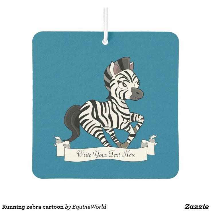 Running zebra cartoon