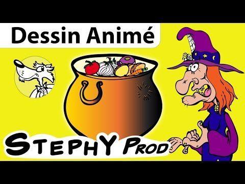 La Soupe à la Sorcière, une histoire d'Halloween pour les enfants en dessins animés - YouTube