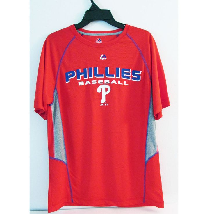 Majestic Men's Phillies Baseball Game Day Shirt Size Medium - Red #Majestic #PhiladelphiaPhillies