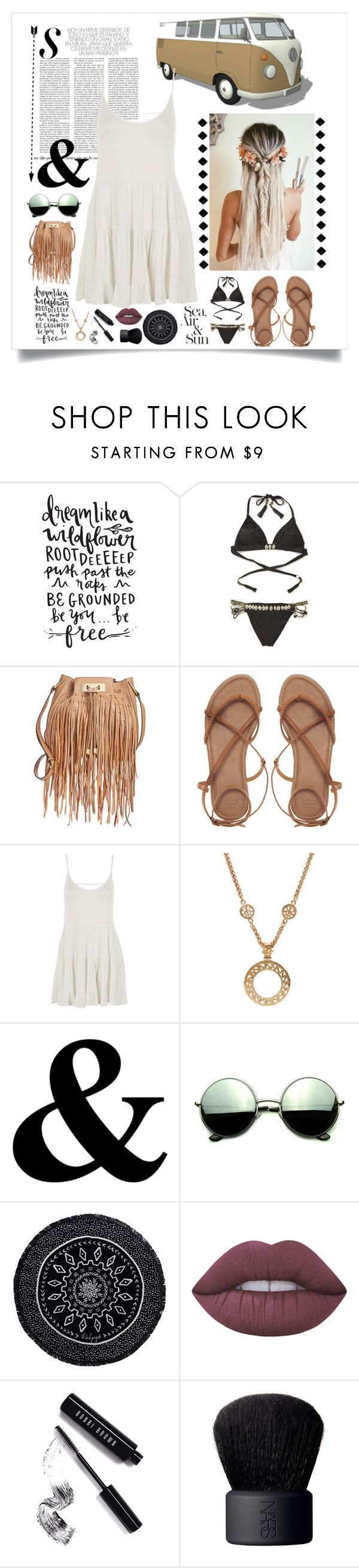 """Modern Hippie"" by rhiannonpsayer on Polyvore featuring Amenapih, Calvin Klein, ASOS, Topshop, Chanel, Revo, The Beach People, Lime Crime, Bobbi Brown Cosmetics and NARS Cosmetics"