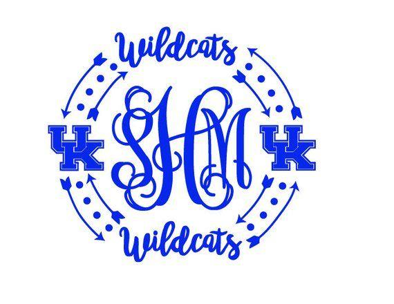 Kentucky Monogram Uk Decal Vine Sticker University