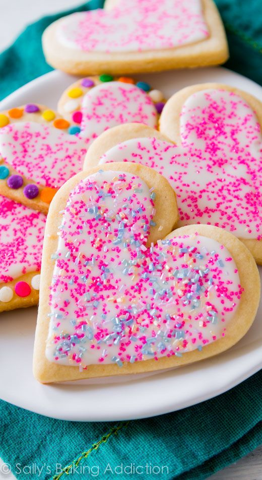 Soft Cut-Out Sugar Cookies by Sally for Sally's Baking Addiction / perfect for Valentine's with kids!
