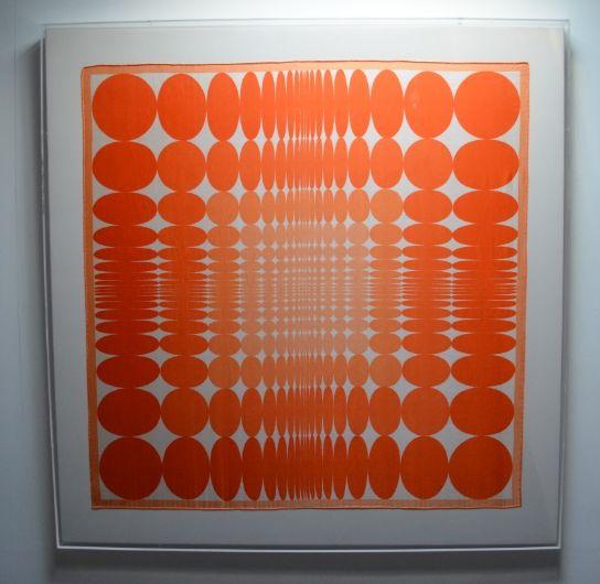 VERA  Orange Dots 87 x 85cm £500 - on hold