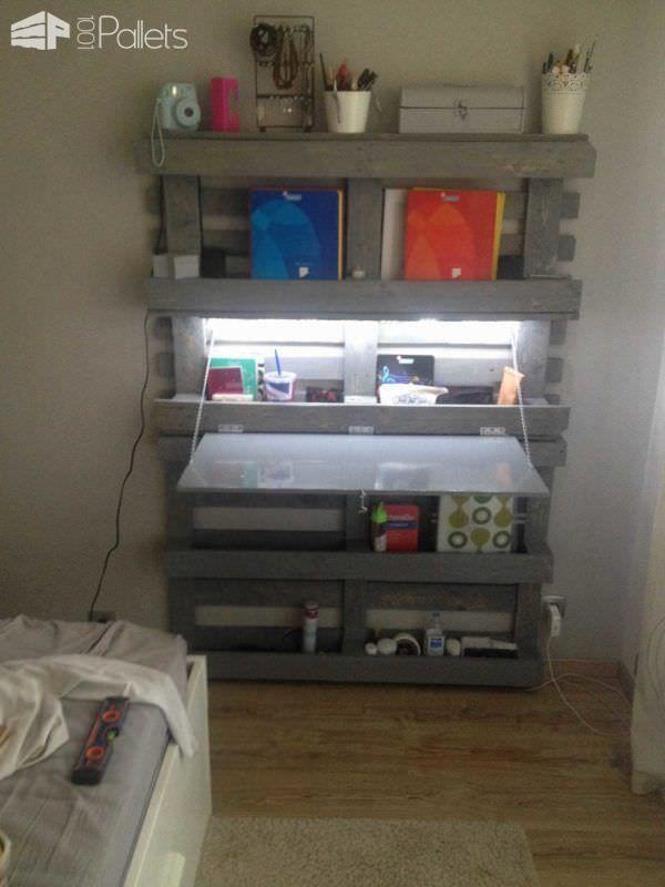 Bureau Gain De Place / Office Folding Pallet Desk Pallet Desks & Pallet Tables
