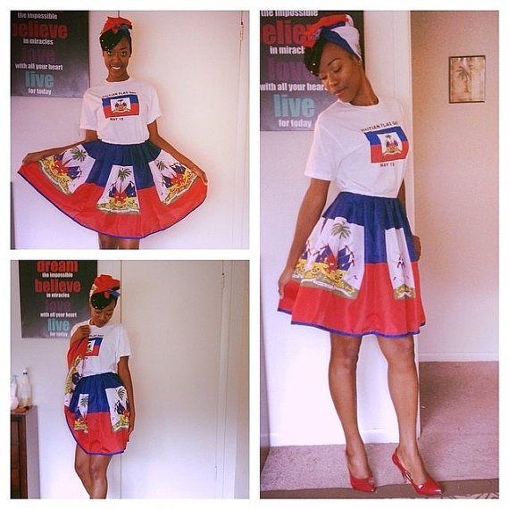 Haitian any Flag Skirt starting GIRLS sizes by HAITIANBABY on Etsy haitian flag day #haitian #haiti #haitianflag day