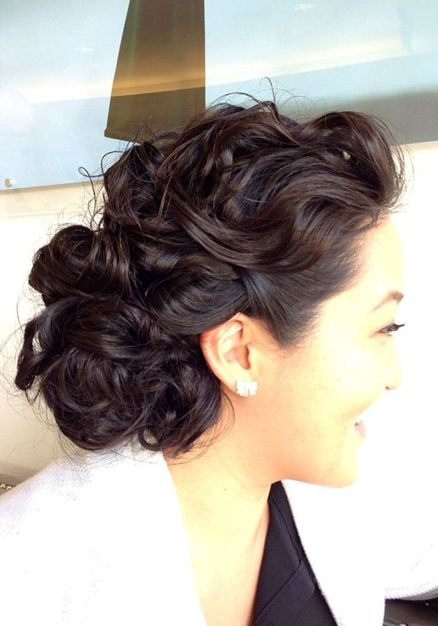 This elegant, low chignon is NOT just for brides!  Pair this hair with your favorite power suit, and go rock the boardroom!