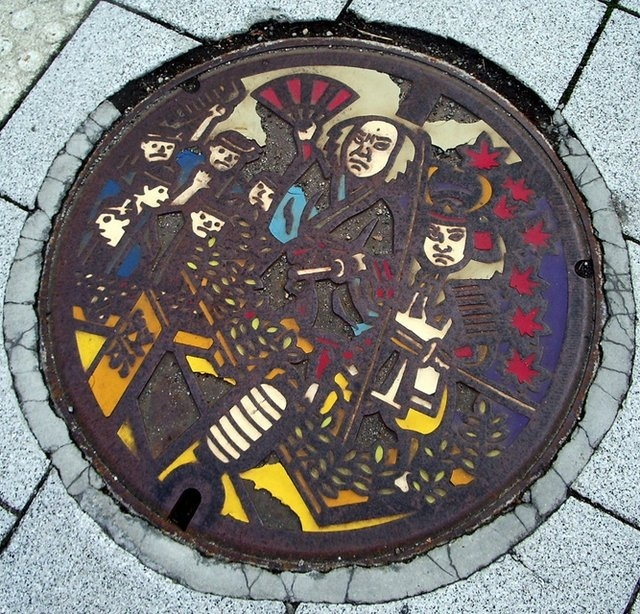 art design | street design | manhole cover | japan | col. 51