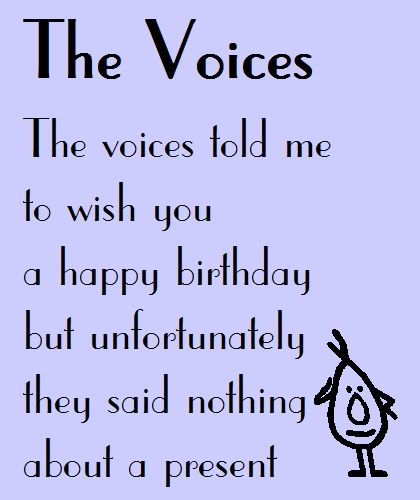 17 Best Ideas About Funny Birthday Poems On Pinterest