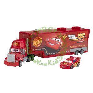 """Машинки Тачки 2 """"Cars 2"""" - Mack Truck Playset (Игровой набор Мак и МакКуин) - любимые герои мультфильмов Disney."""